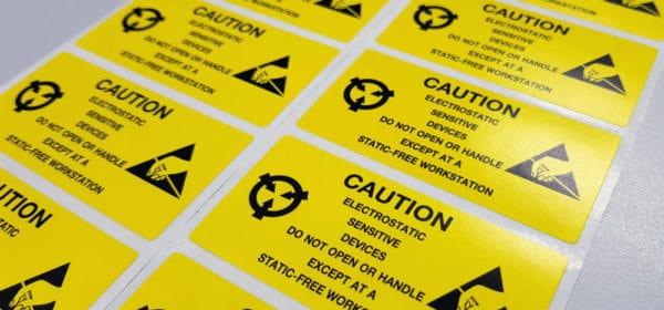 Etiquettes avertissement