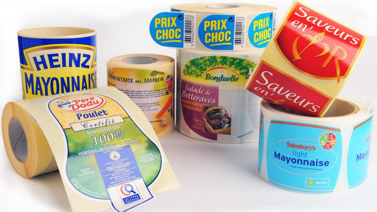 Etiquettes marketees agroalimentaires