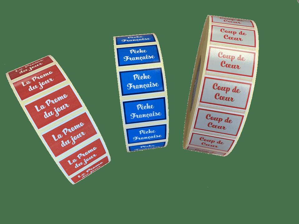Etiquettes promotionnelles