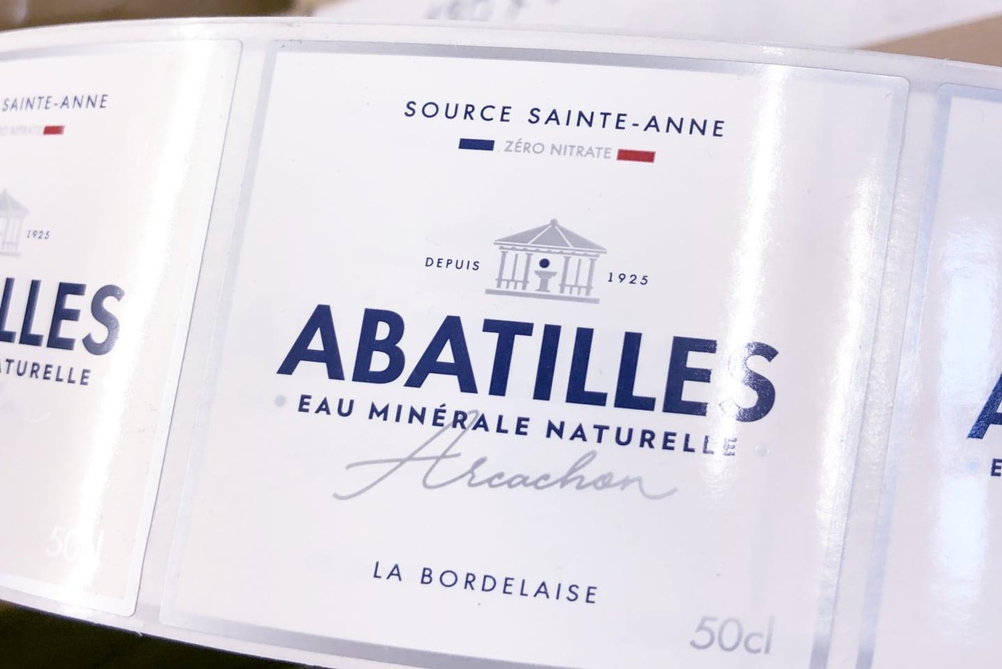 Abatilles etiquette eau minerale