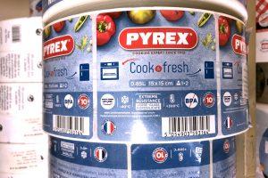 PYREX etiquettes