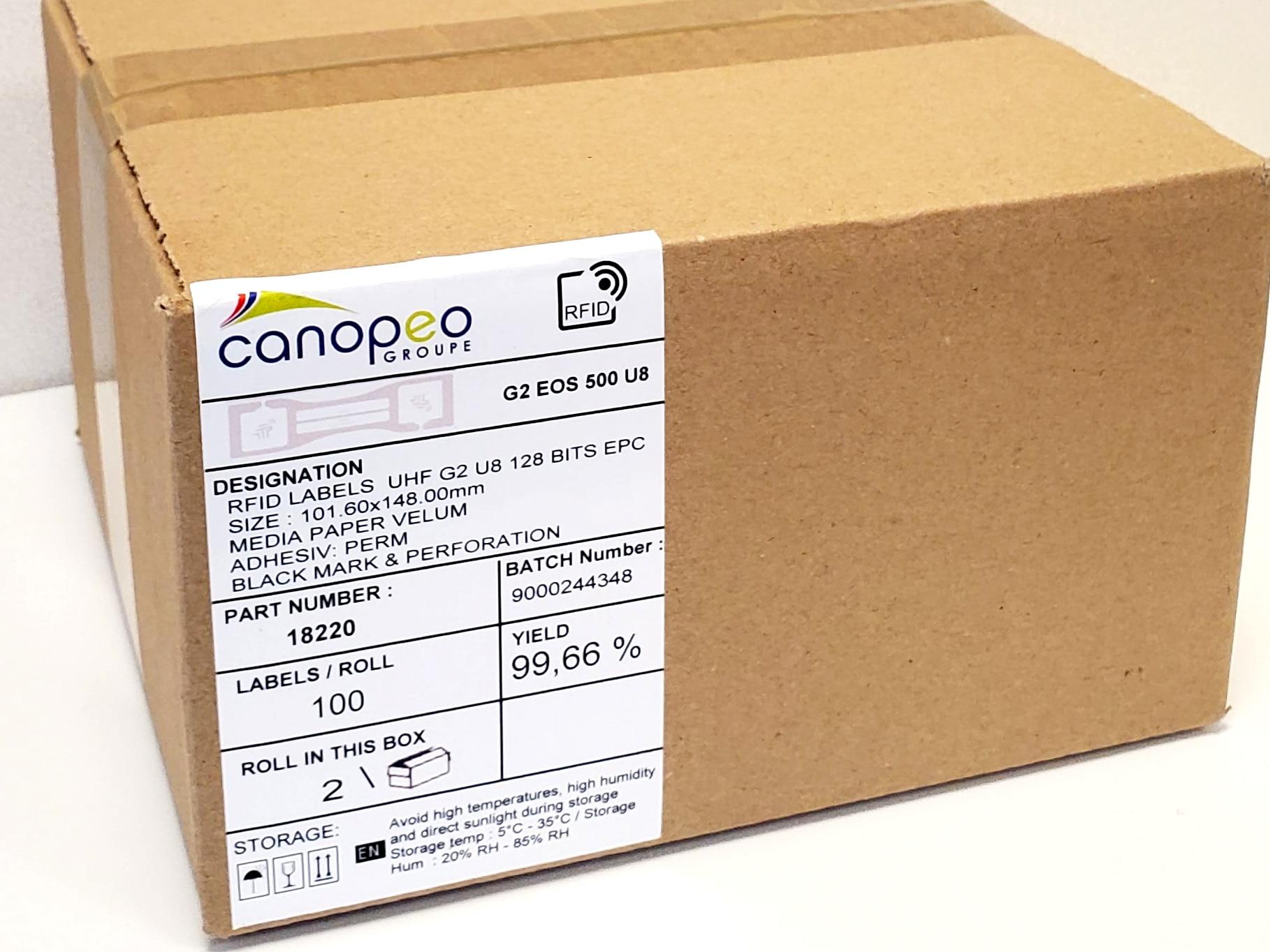 etiquette carton canopeo