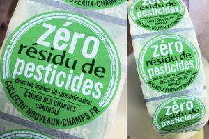 zero pesticide etiquettes